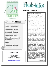 Flash-Infos Janvier/Février 2012