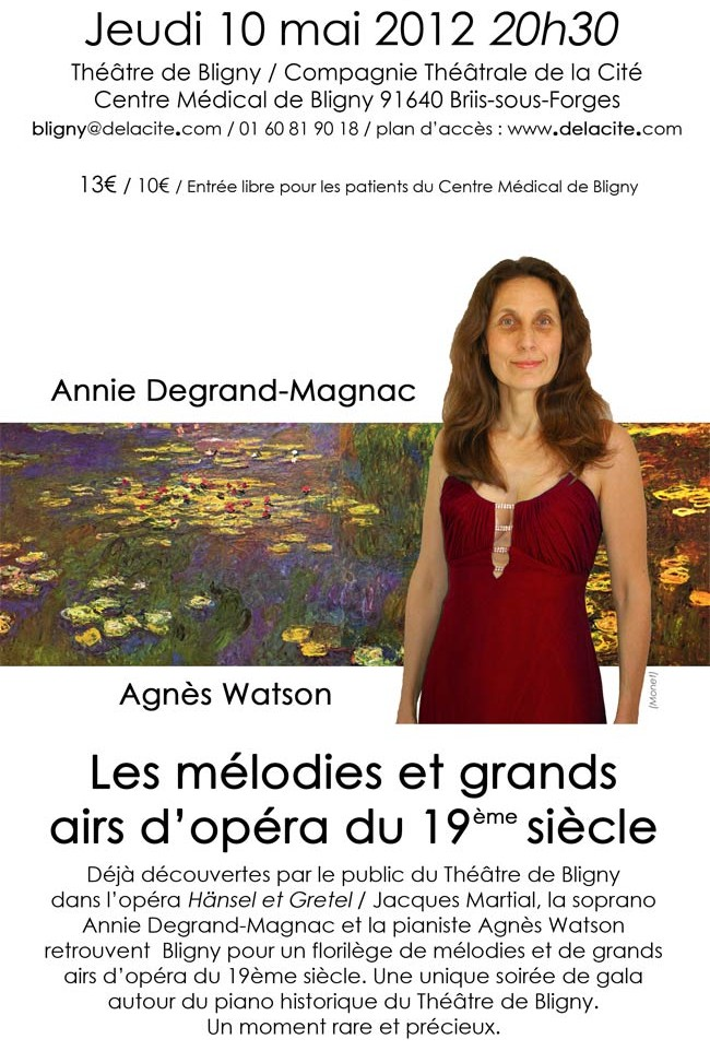 Mélodies et grands airs d'opéra du 19ème Siècle – Théâtre de Bligny