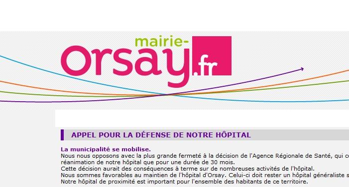 Défendre le Centre Hospitalier d'Orsay