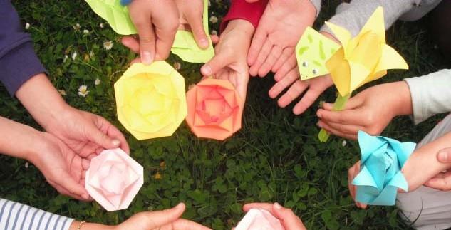 Exposition d'origami à la bibliothèque
