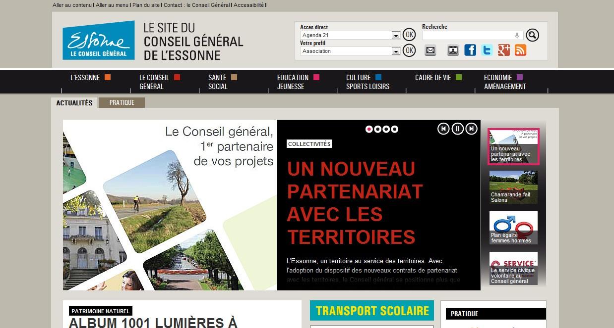Le site web du Conseil général fait peau neuve