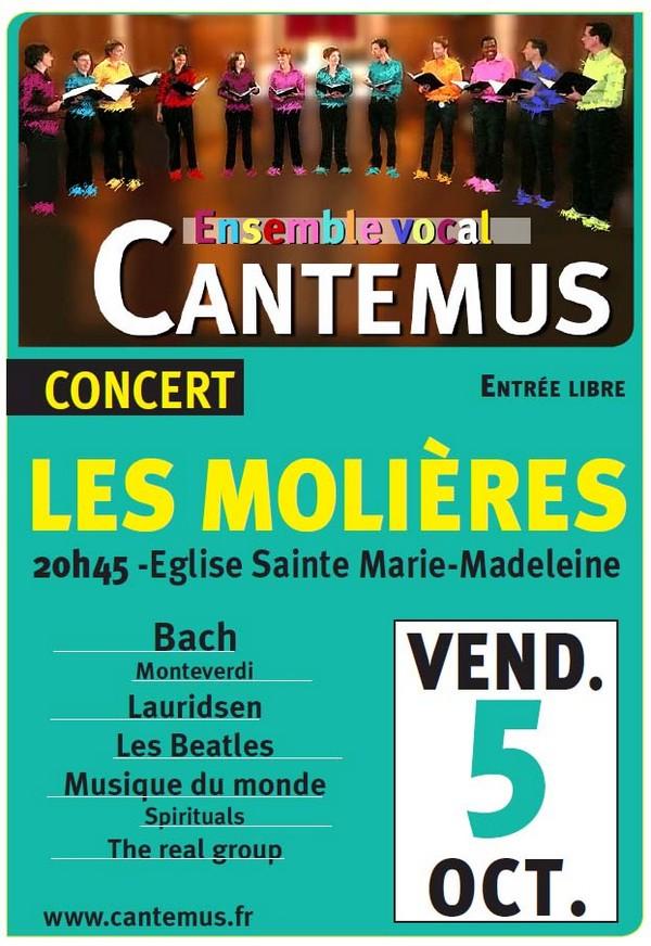 Concert choral aux Molières le 5 octobre