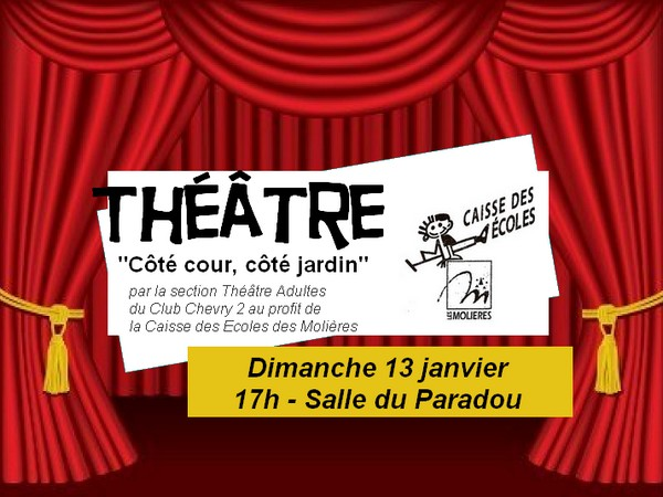 Théâtre au Paradou le 13 janvier