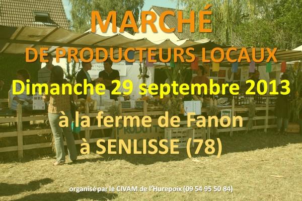 Marché de producteurs locaux le 29 septembre