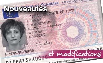 Nouveautés concernant le permis de conduire