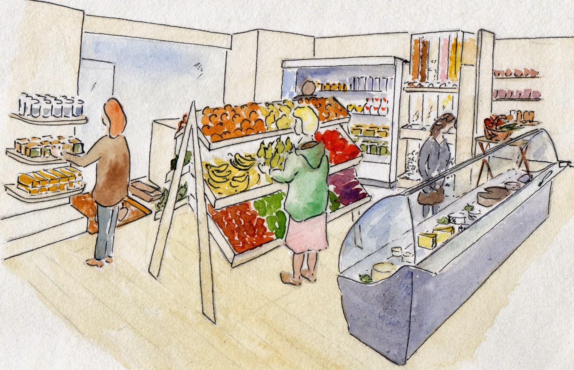 Une épicerie aux Molières