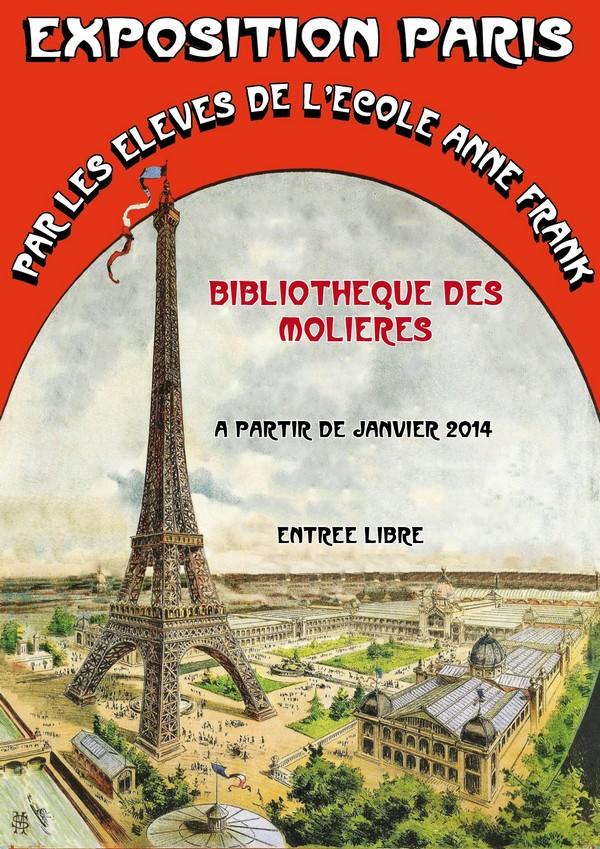 """En janvier à la bibliothèque : Expo """"Paris"""""""
