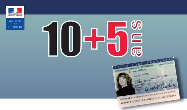La carte nationale d'identité est valide 15 ans à compter du 1/01/2014