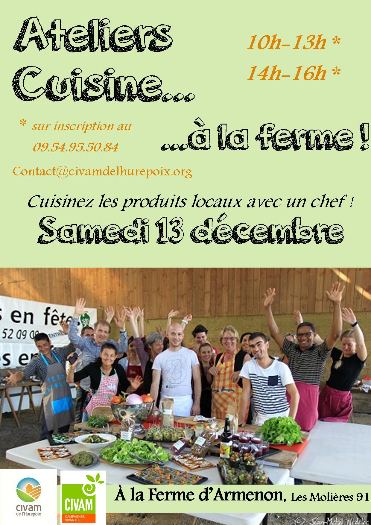 13 d cembre ateliers de cuisine la ferme d armenon for Atelier cuisine meetic