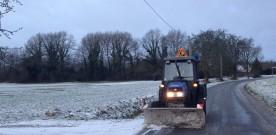 La neige, et notre petit tracteur, tous deux au rendez-vous