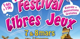 7ème Festival Libres-Jeux les 7 et 8 mars à Limours