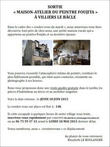 Maison Foujita le 18 juin