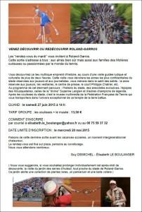 Roland Garros le 27 juin