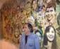 La fresque d'Austin accrochée en mairie