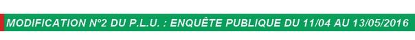 Modification n°2 du PLU des Molières