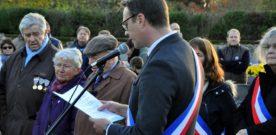 Cérémonie du 11 novembre : discours du Maire