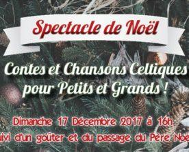 Spectacle de noël pour les enfants le 17 décembre à 16h