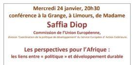Conférence par le comité de jumelage avec le Mali le 24 janvier