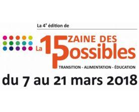 La Quinzaine des Possibles, du 7 au 21 mars 2018