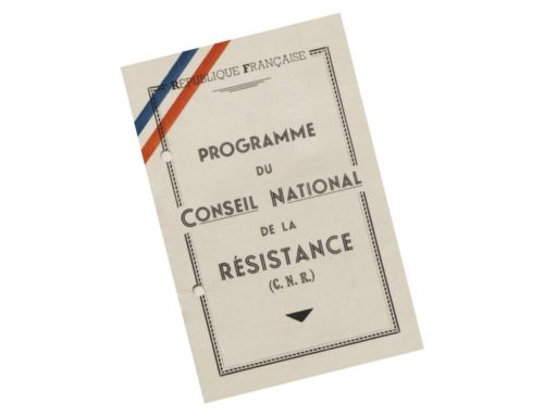 Hommage à la Résistance et au programme du CNR