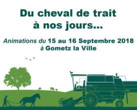 """Événement à Gometz la Ville : """"La vie agricole et rurale du cheval de trait à nos jours"""", 15-16 sept."""
