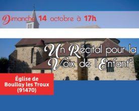 Concert au profit de La Voix de l'Enfant, à Boullay le 14 octobre