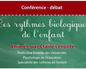 Conférence de Claire Leconte sur les temps de l'enfant le 9 janvier