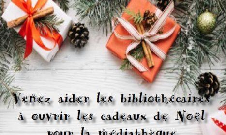 Ouvrez les cadeaux de la médiathèque le 27 décembre !