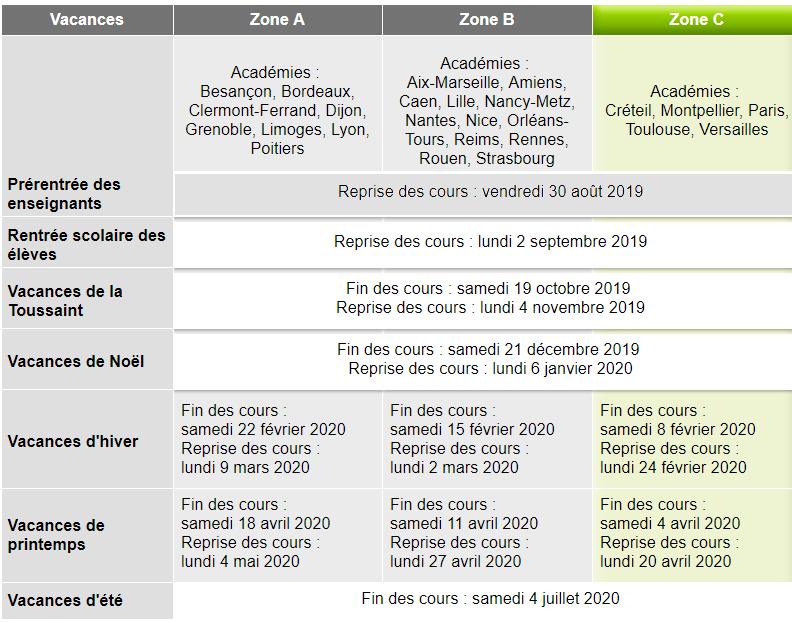 Calendrier Scolaire Bordeaux.Calendrier Scolaire Les Molieres Essonne 91470
